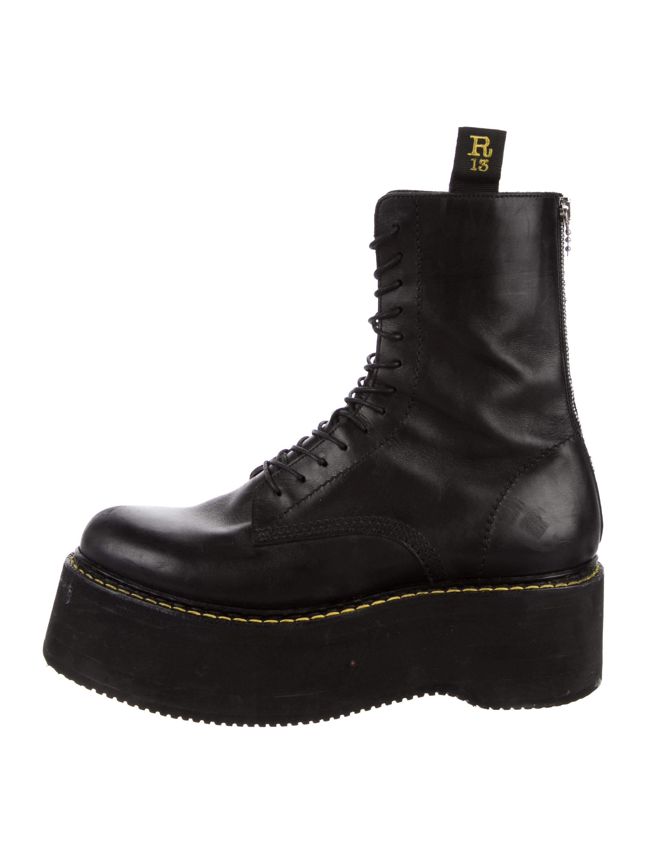 clearance view Valentino Black Stack Platform Lace-Up Boots outlet tumblr 5h7RIOdBx