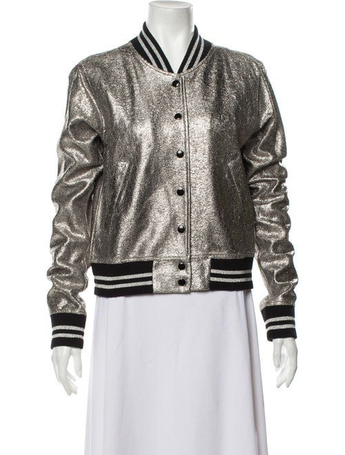 R13 Bomber Jacket Silver