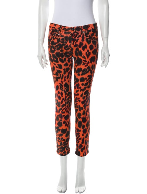 R13 Animal Print Straight Leg Pants