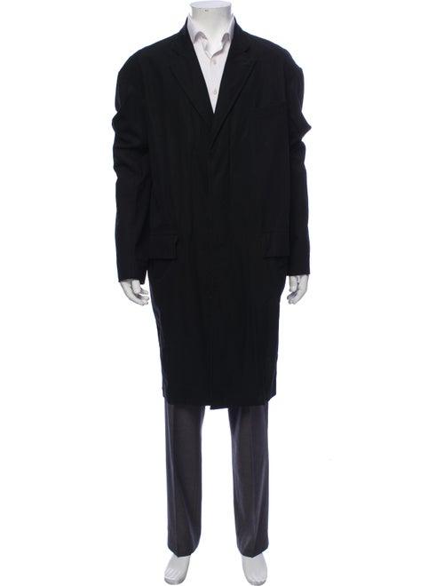 R13 Overcoat Black