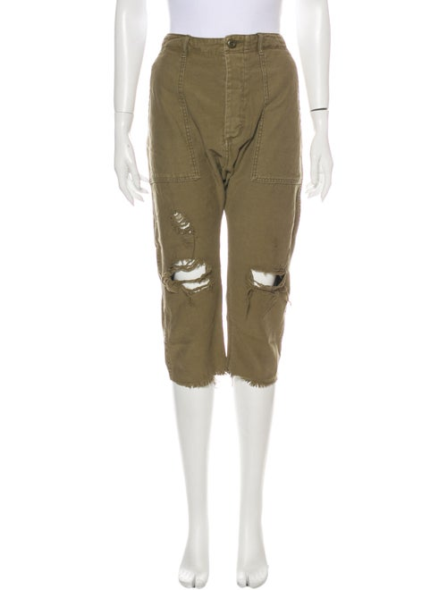 R13 Straight Leg Pants Green