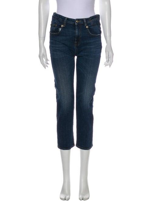 R13 Mid-Rise Straight Leg Jeans Blue
