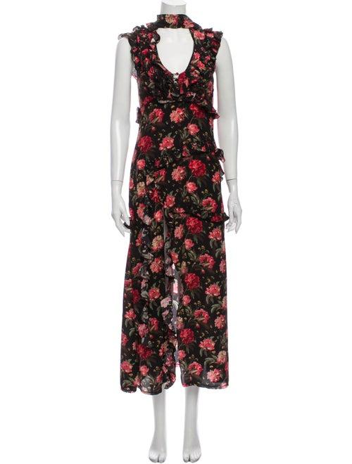 R13 Silk Long Dress Pink