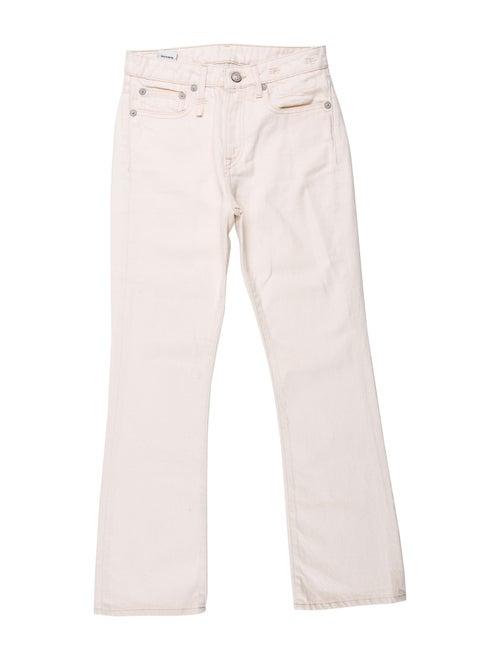 R13 Mid-Rise Straight Leg Jeans