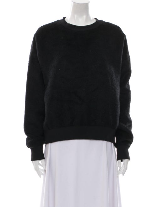 R13 Alpaca Crew Neck Sweatshirt Black