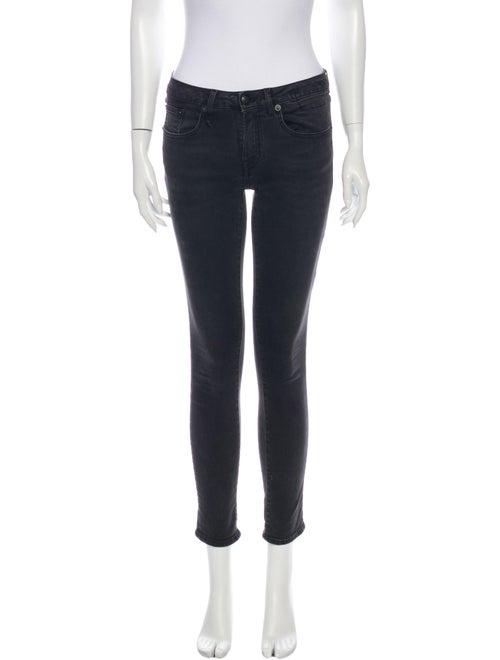 R13 Kate Skinny Skinny Leg Jeans Black