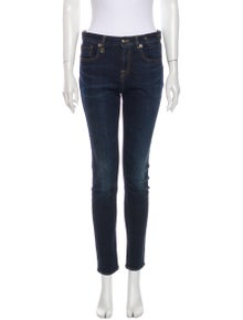 R13 Mid-Rise Skinny Leg Jeans