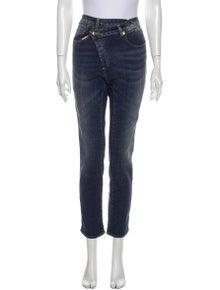 R13 Cross over skinny Straight Leg Jeans