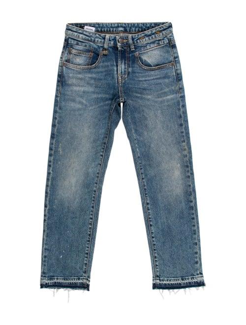 R13 Low-Rise Straight Leg Jeans Blue