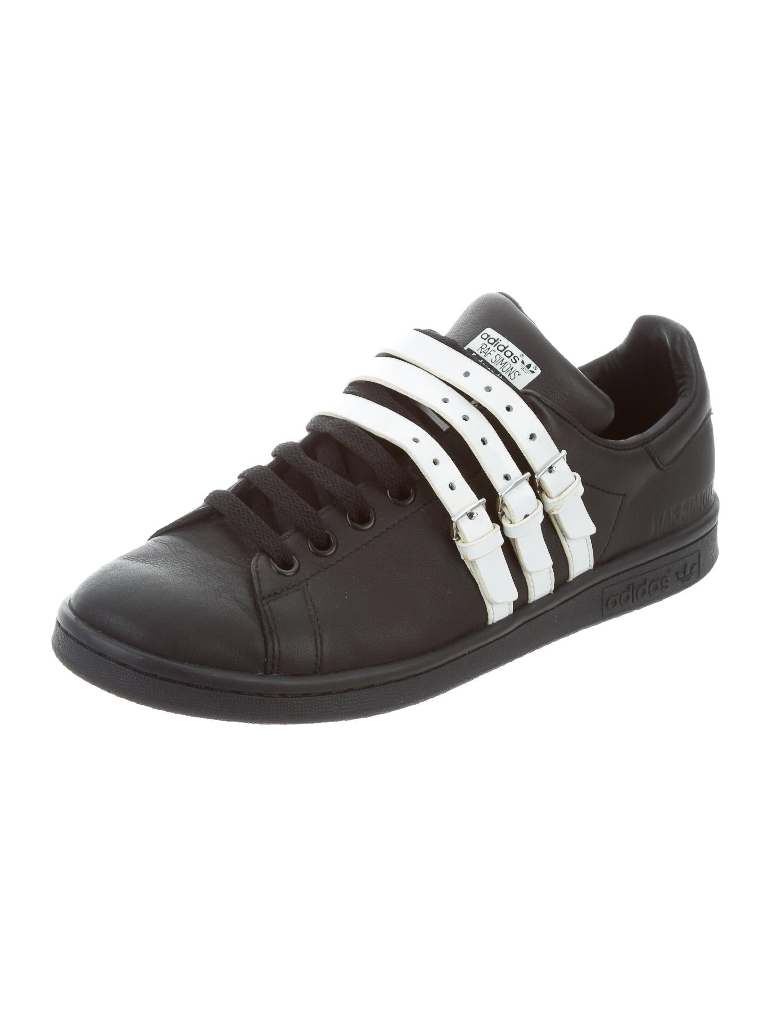 raf simons x adidas leather low top sneakers shoes. Black Bedroom Furniture Sets. Home Design Ideas