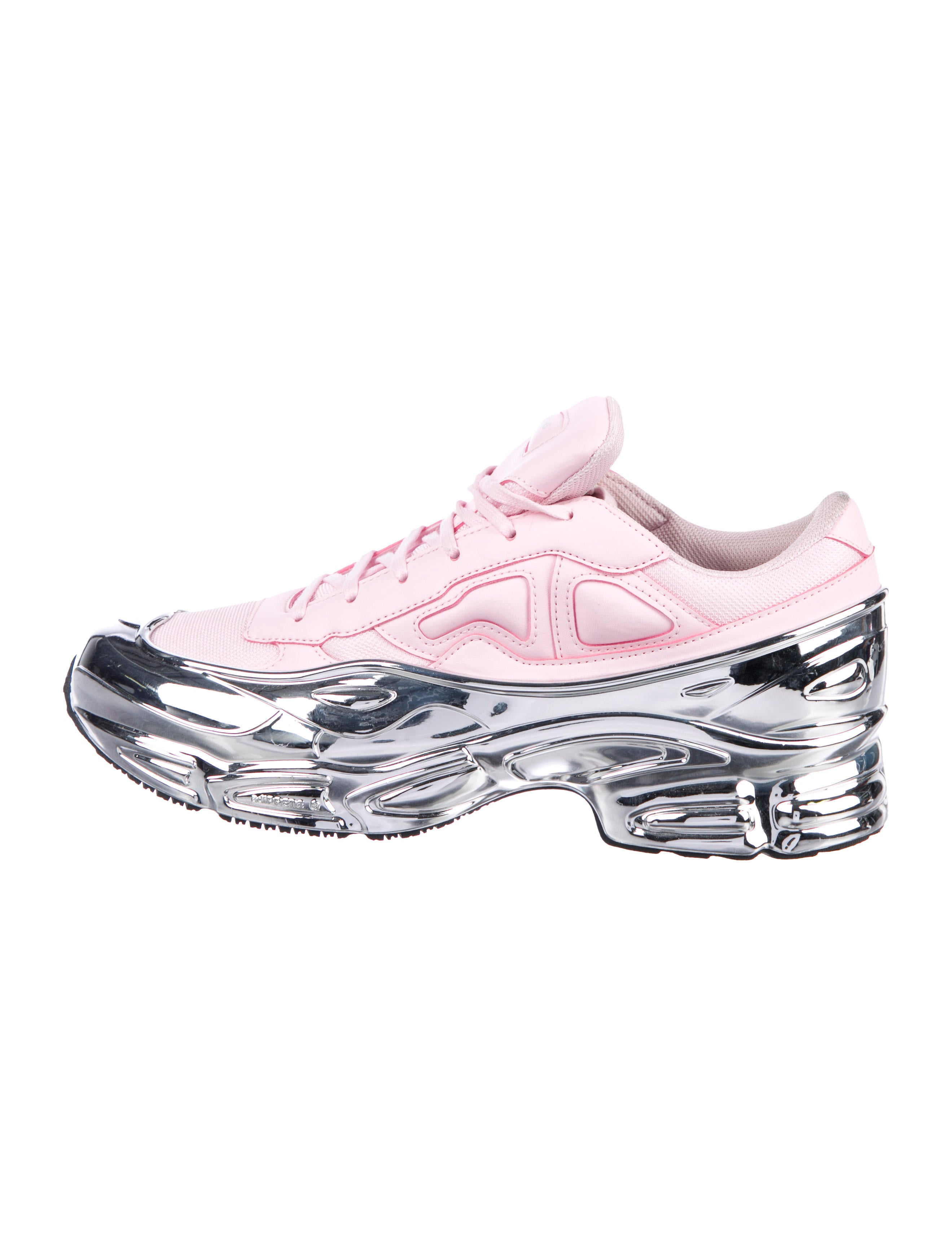 Raf Simons x adidas Ozweego Mirrored Clear Pink Sneakers - Shoes ...