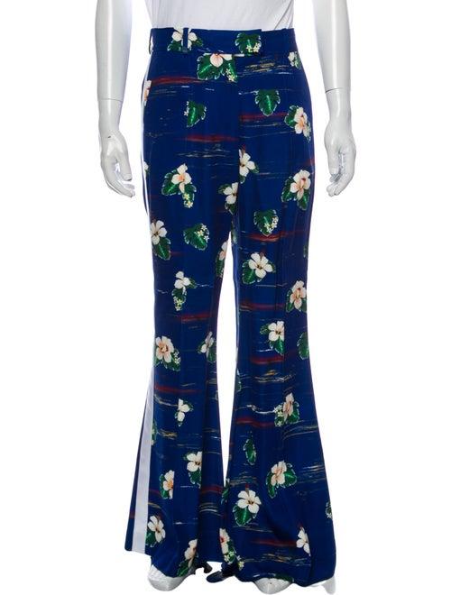 Racil Floral Print Pants Blue