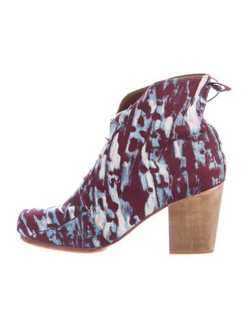 Printed Ankle Boots