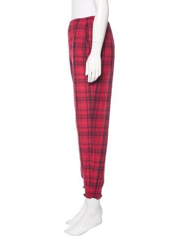 Rachel Comey Plaid Mid-Rise Joggers - Clothing - WRACY23439 | The RealReal