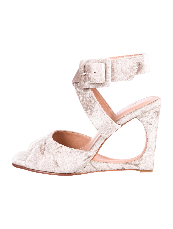 Rachel Comey Velvet Cutout Wedges 2014 newest cheap online shopping online discount huge surprise 3mYp8