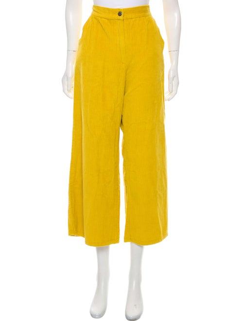 Rachel Comey Corduroy High-Rise Jeans Yellow