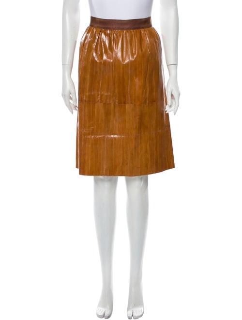 Rachel Comey Eel Skin Knee-Length Skirt - image 1
