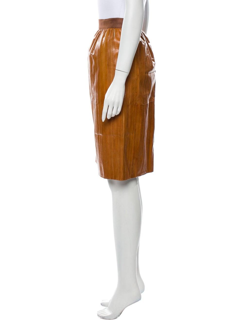 Rachel Comey Eel Skin Knee-Length Skirt - image 2