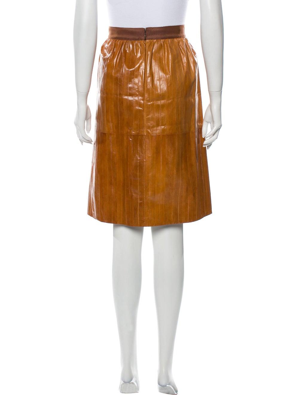 Rachel Comey Eel Skin Knee-Length Skirt - image 3