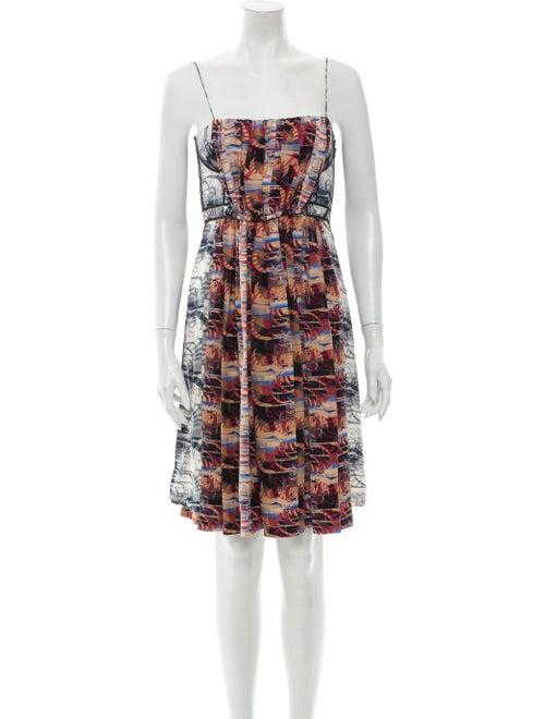 Rachel Comey Silk Mini Dress Blue