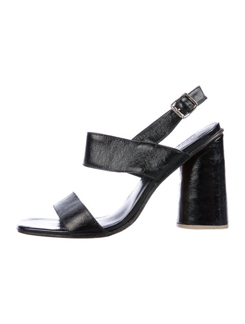 Rachel Comey Patent Leather Slingback Sandals Blac