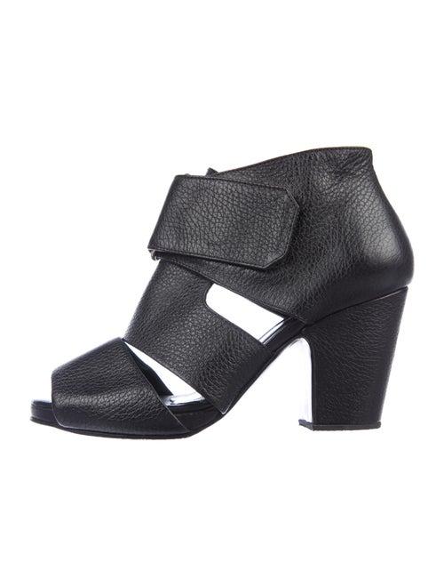 Rachel Comey Leather Cutout Accent Sandals Black