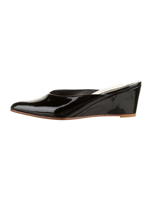 Rachel Comey Patent Leather Printed Mules Black
