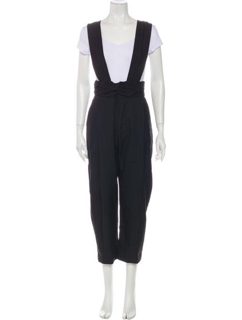 Rachel Comey Wool Square Neckline Jumpsuit Wool