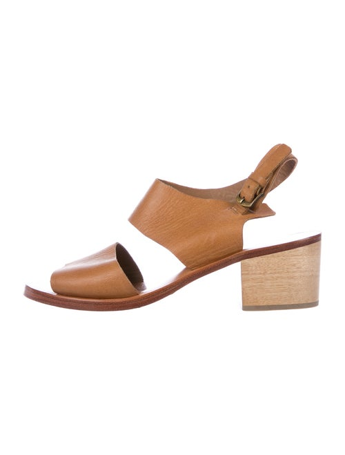 Rachel Comey Leather Slingback Sandals Brown