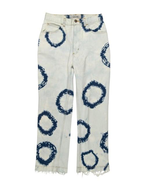 Rachel Comey Mid-Rise Straight Leg Jeans Blue - image 1