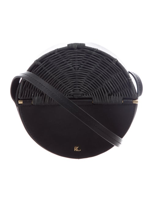 Rachel Comey Wicker-Trimmed Baan Bag Black