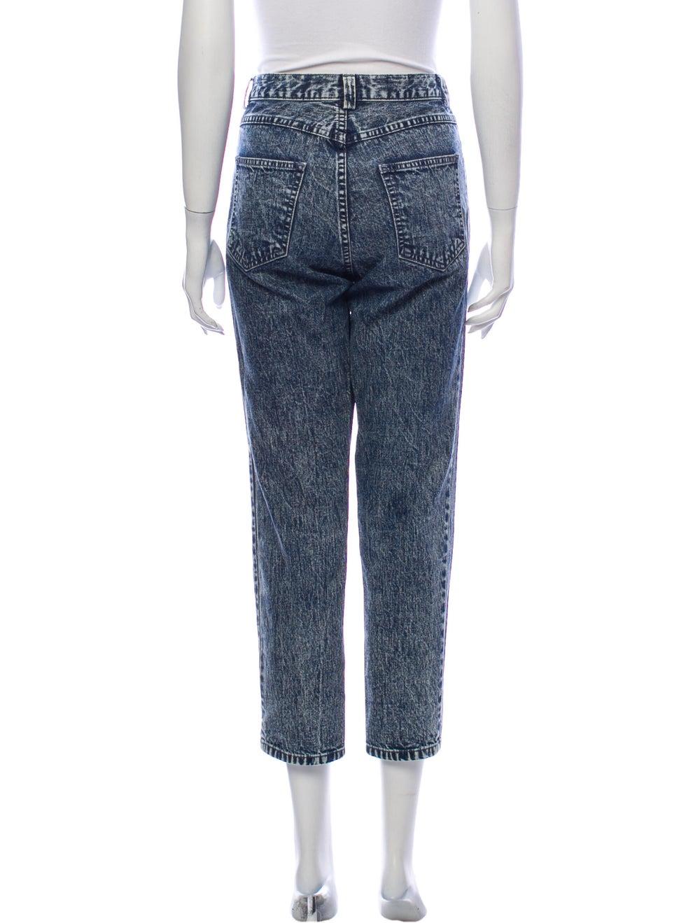 Rachel Comey Mid-Rise Straight Leg Jeans Blue - image 3