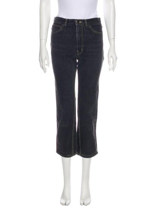 Rachel Comey Mid-Rise Straight Leg Jeans Grey