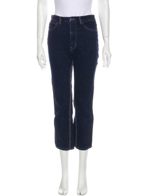 Rachel Comey Mid-Rise Straight Leg Jeans Blue