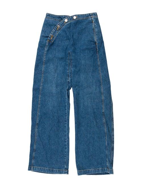 Rachel Comey High-Rise Wide Leg Jeans Blue