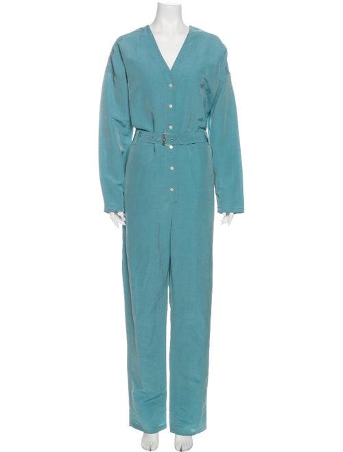 Rachel Comey V-Neck Jumpsuit Blue
