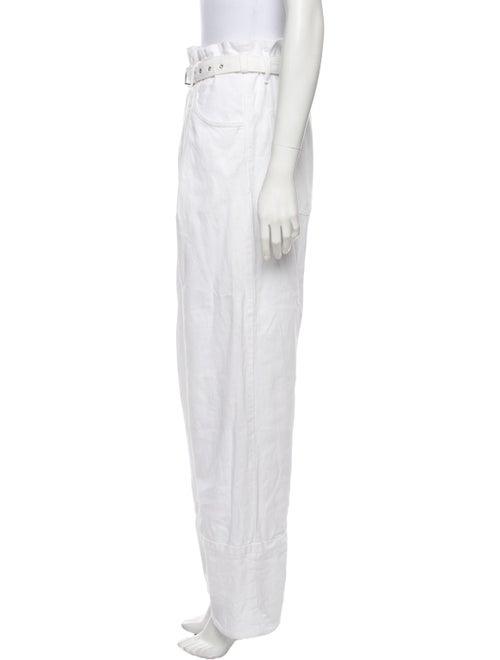 Rachel Comey High-Rise Straight Leg Jeans White