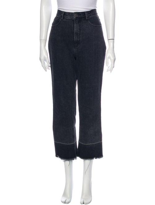 Rachel Comey High-Rise Straight Leg Jeans Black