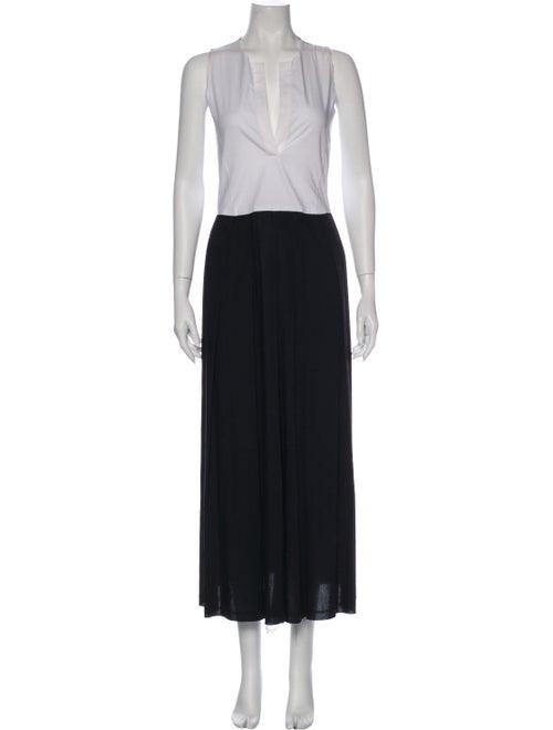 Rachel Comey Plunge Neckline Long Dress Black
