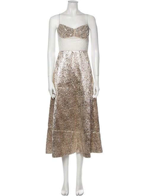 Rachel Comey Printed Long Dress Gold
