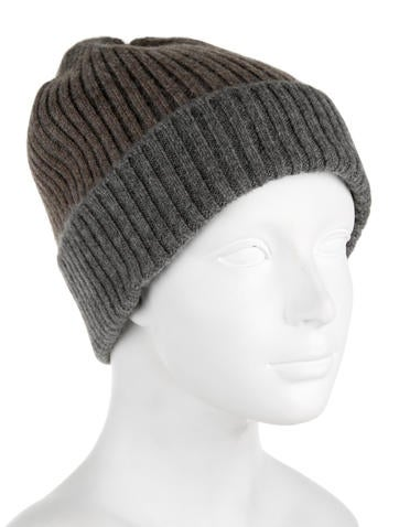 Ribbed-Trimmed Cashmere Beanie w/ Tags