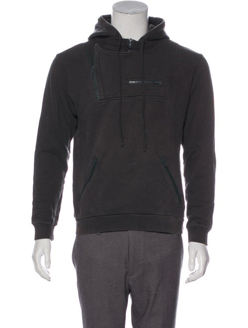 Raf by Raf Simons Zip-Accented Pullover Hoodie