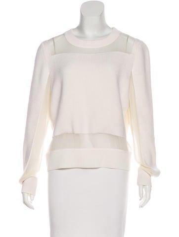 Rag & Bone Silk-Accented Sweater None