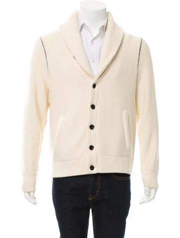 Rag & Bone Wool Button-Up Cardigan None
