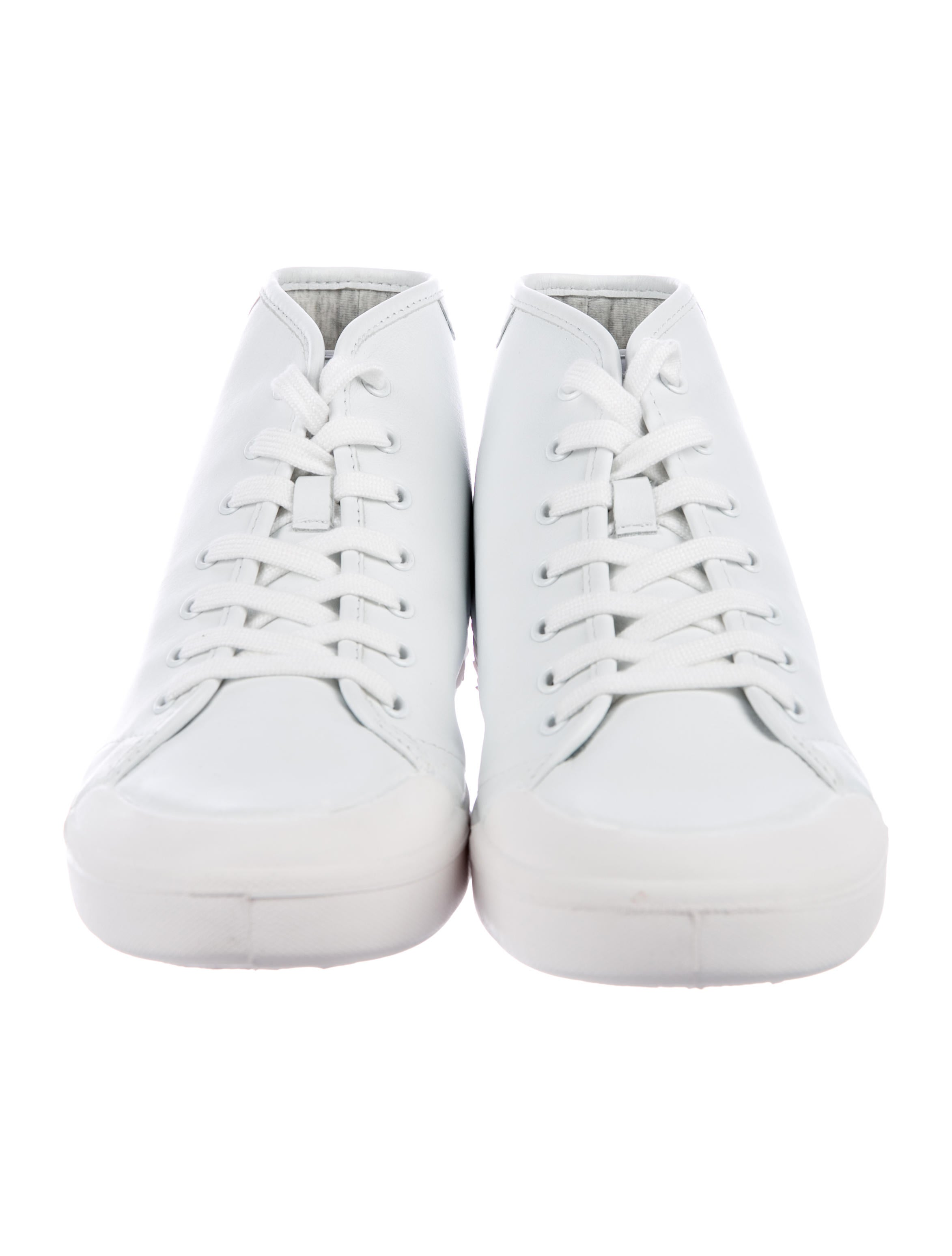 free shipping popular Rag & Bone Standard Issue Leather High-Top Sneakers w/ Tags buy cheap sale siF2jVL59