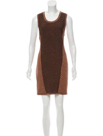Rag & Bone Metallic Knit Mini Dress None