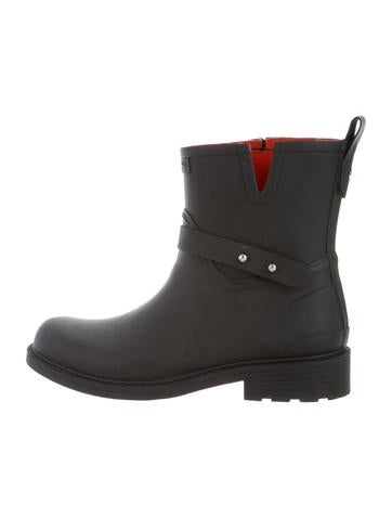Round-Toe Ankle Rain Boots