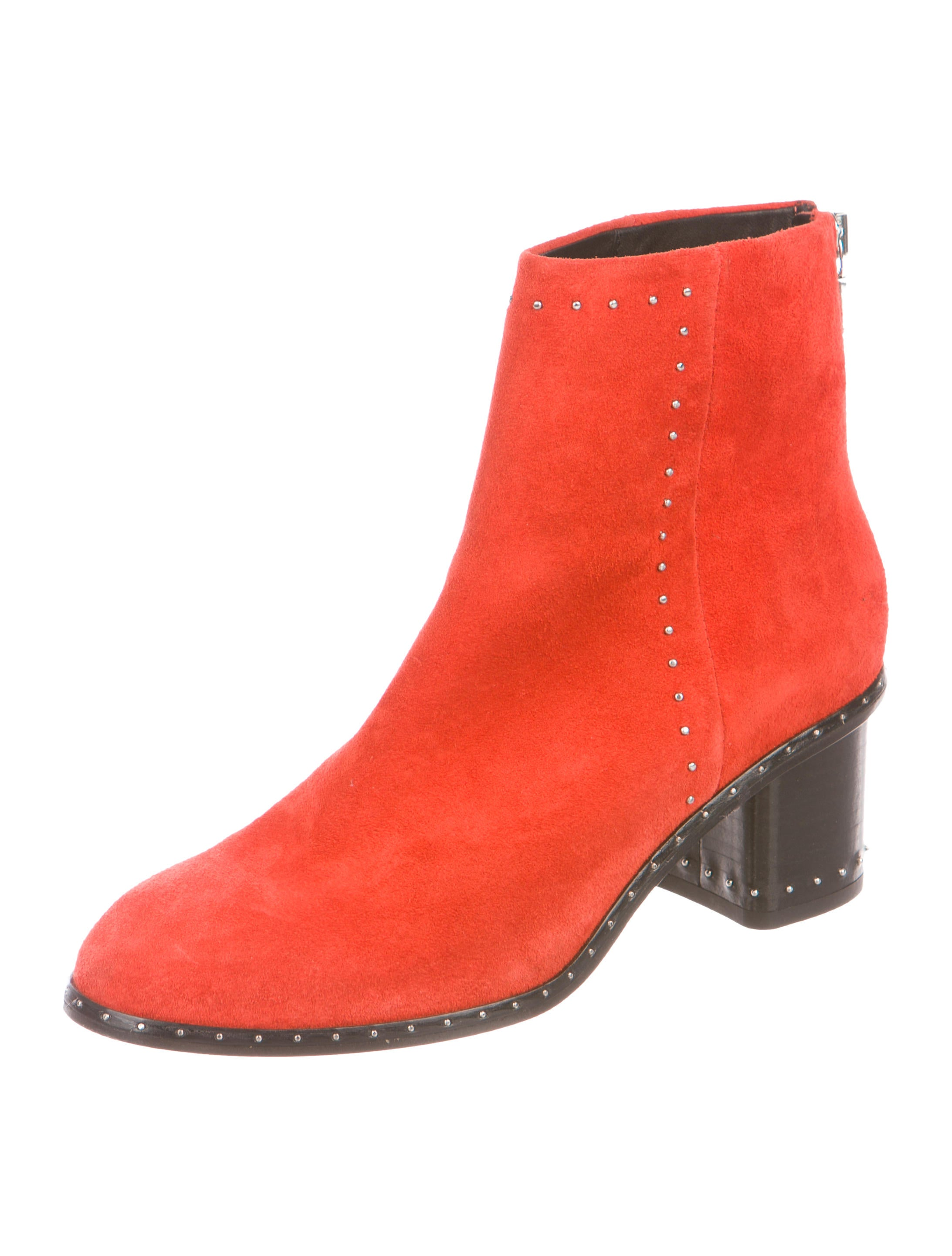 Rag & Bone Willow Stud-Trimmed Booties discount low shipping fee sale many kinds of discount footaction for sale AjdNf