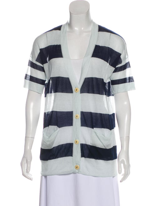 Rag & Bone Short Sleeve Knit Cardigan blue
