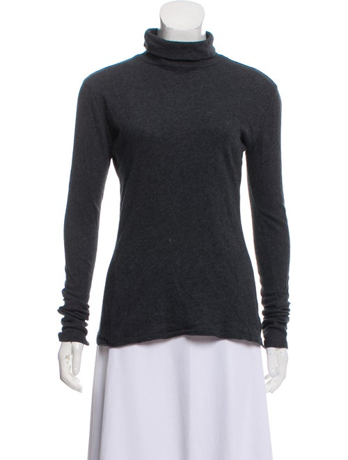 Rag & Bone Turtleneck Long Sleeve Top Grey